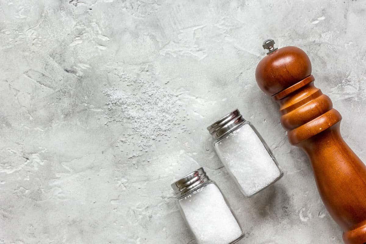 three-salt-shakers-on-counter