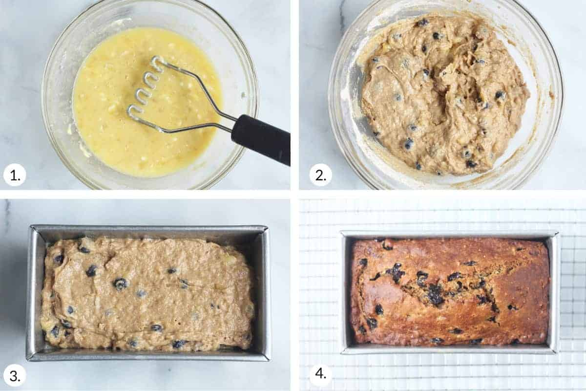 how-to-make-blueberry-banana-bread-step-by-step