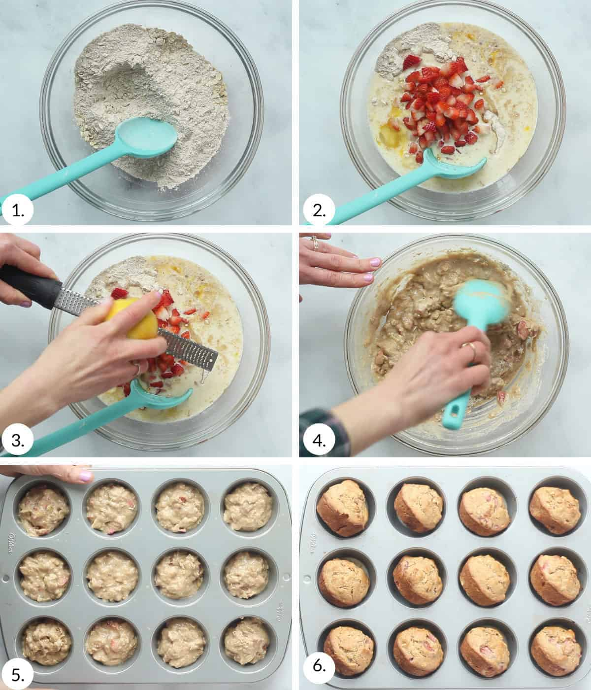 how to make strawberry muffins step by step