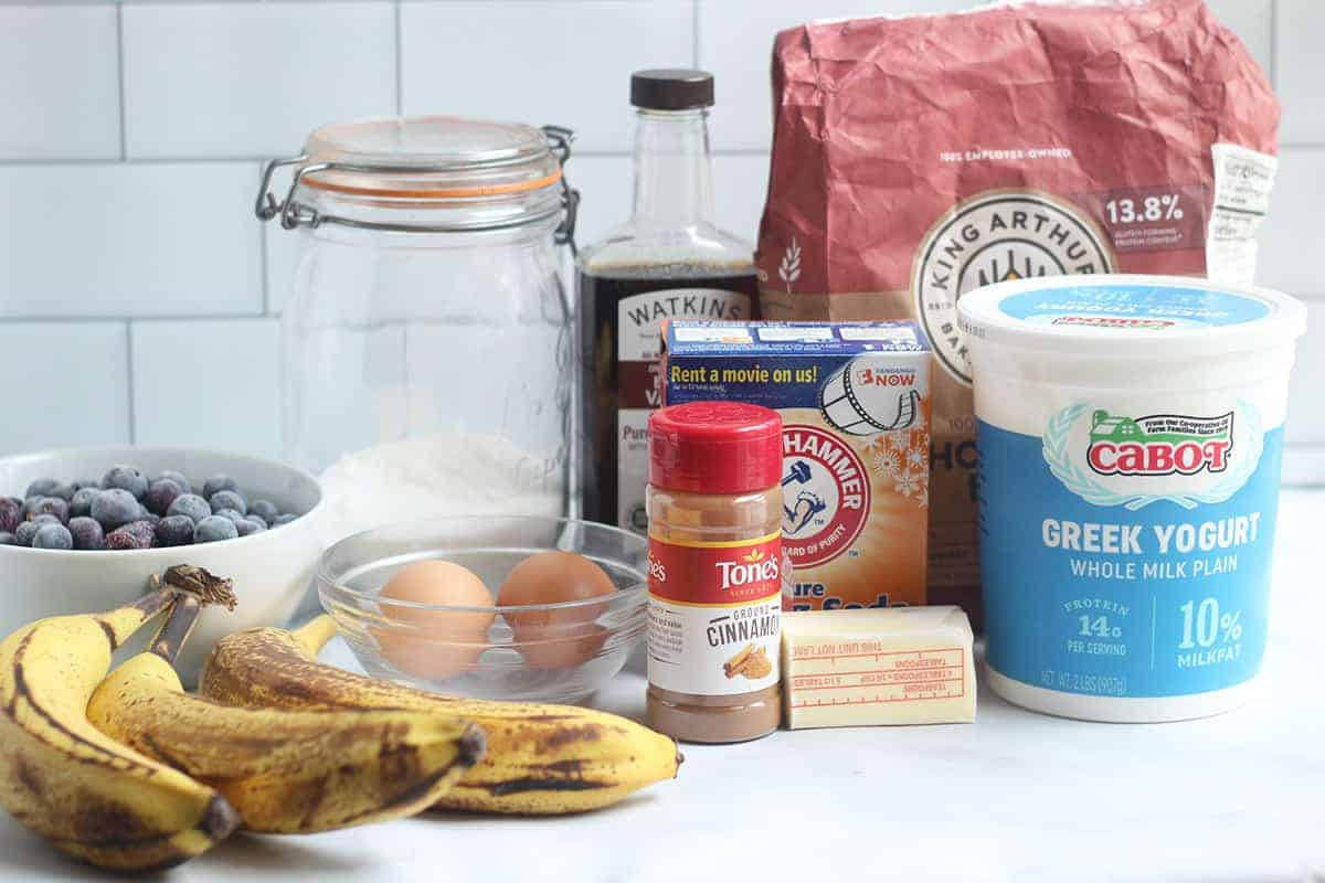 ingredients-in-blueberry-banana-bread