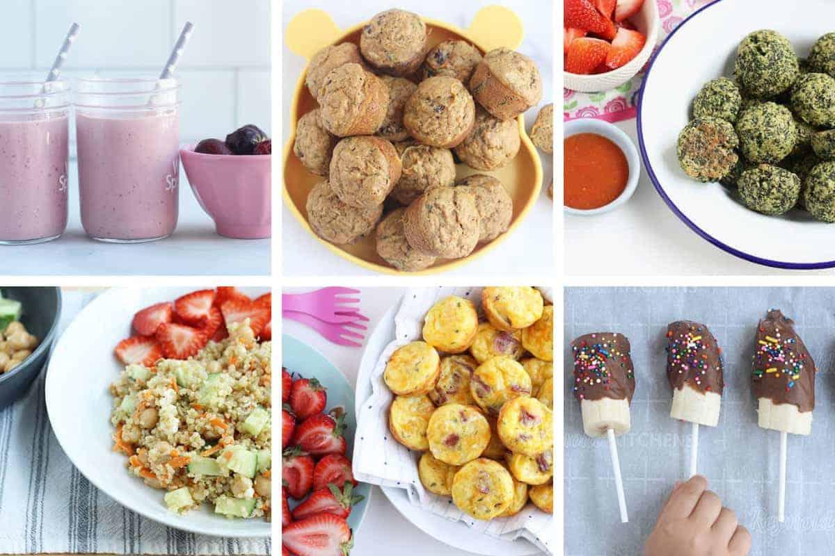 june week 1 meal plan grid of images