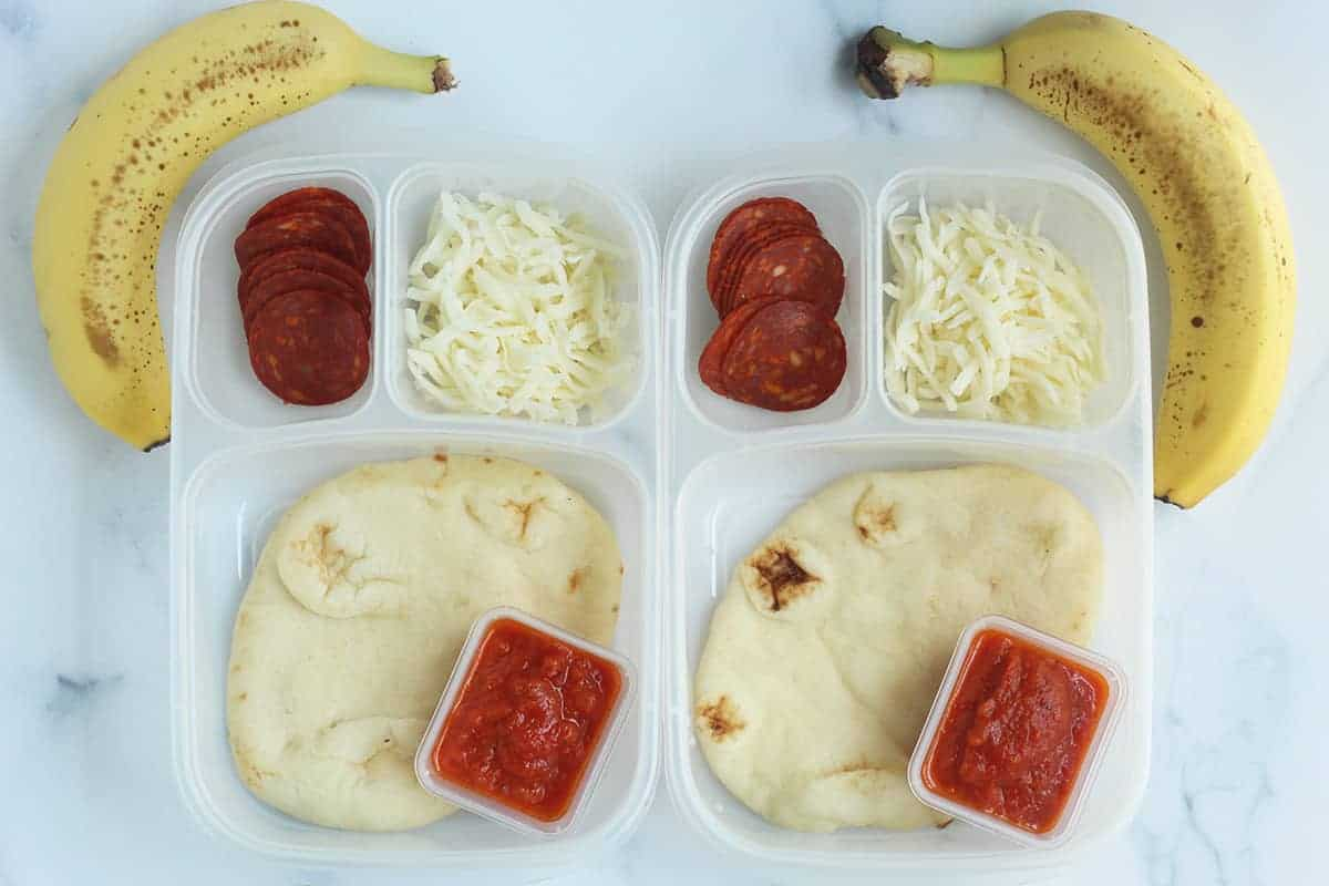 homemade-pizza-lunchables-on-counter