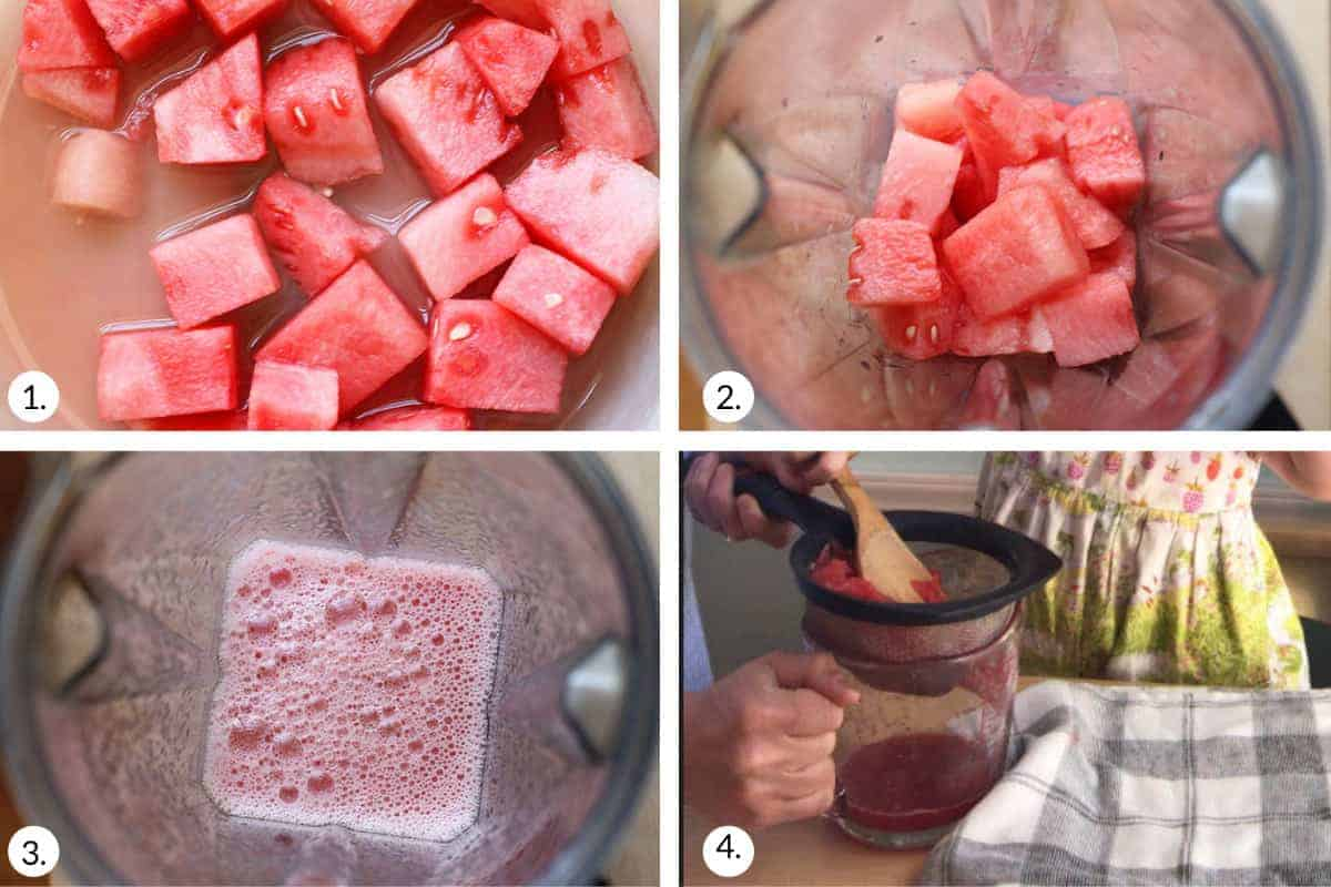 how to make watermelon juice step by step