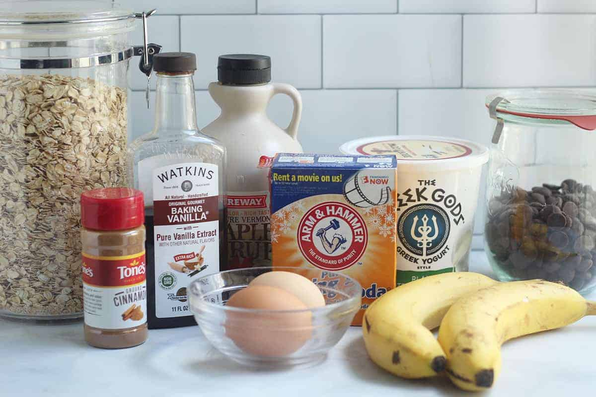 ingredients-in-banana-oatmeal-muffins