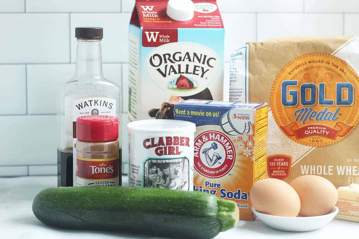 ingredients in zucchini pancakes