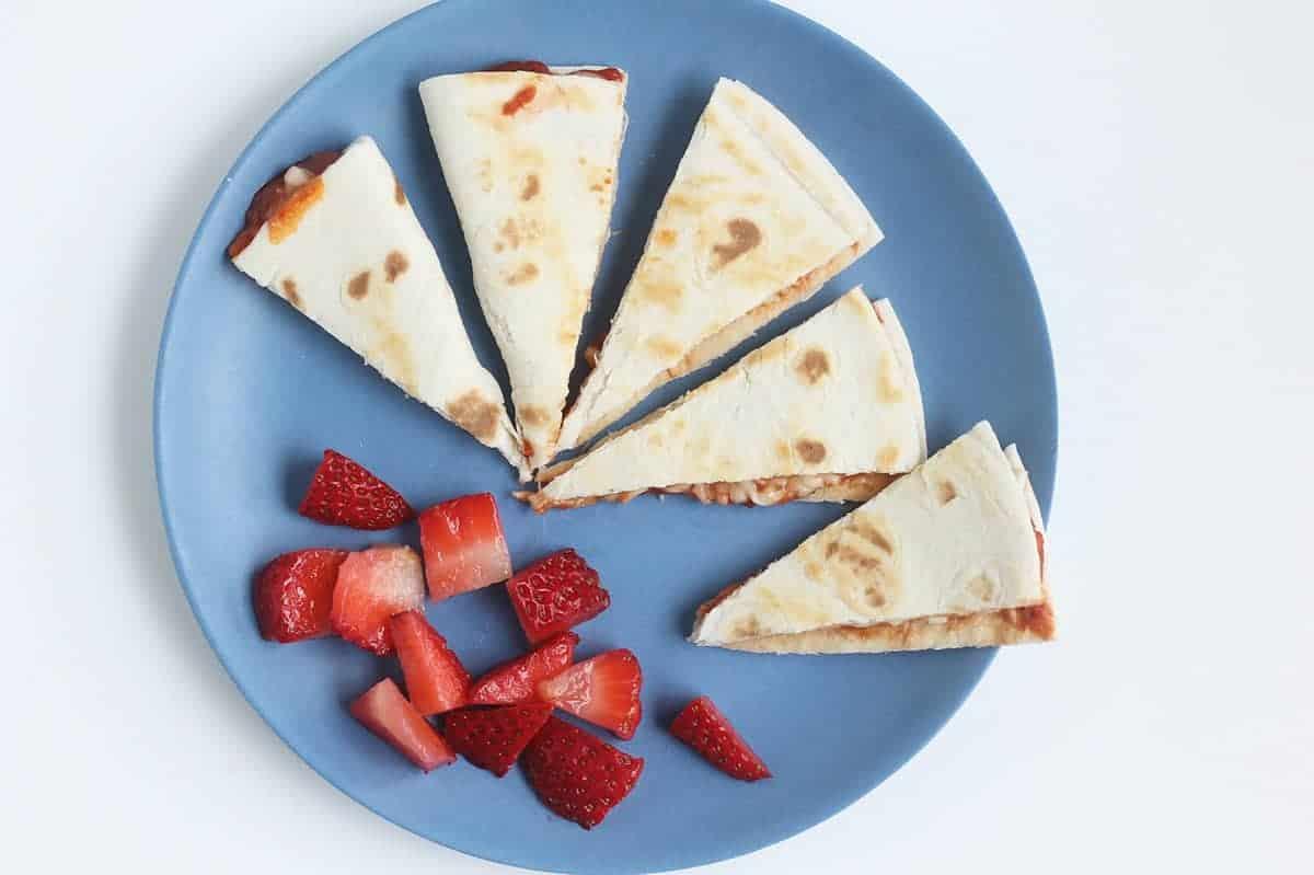 pizza-quesadilla-with-strawberries