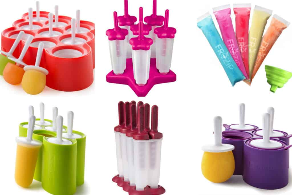 favorite popsicle molds in grid of 6