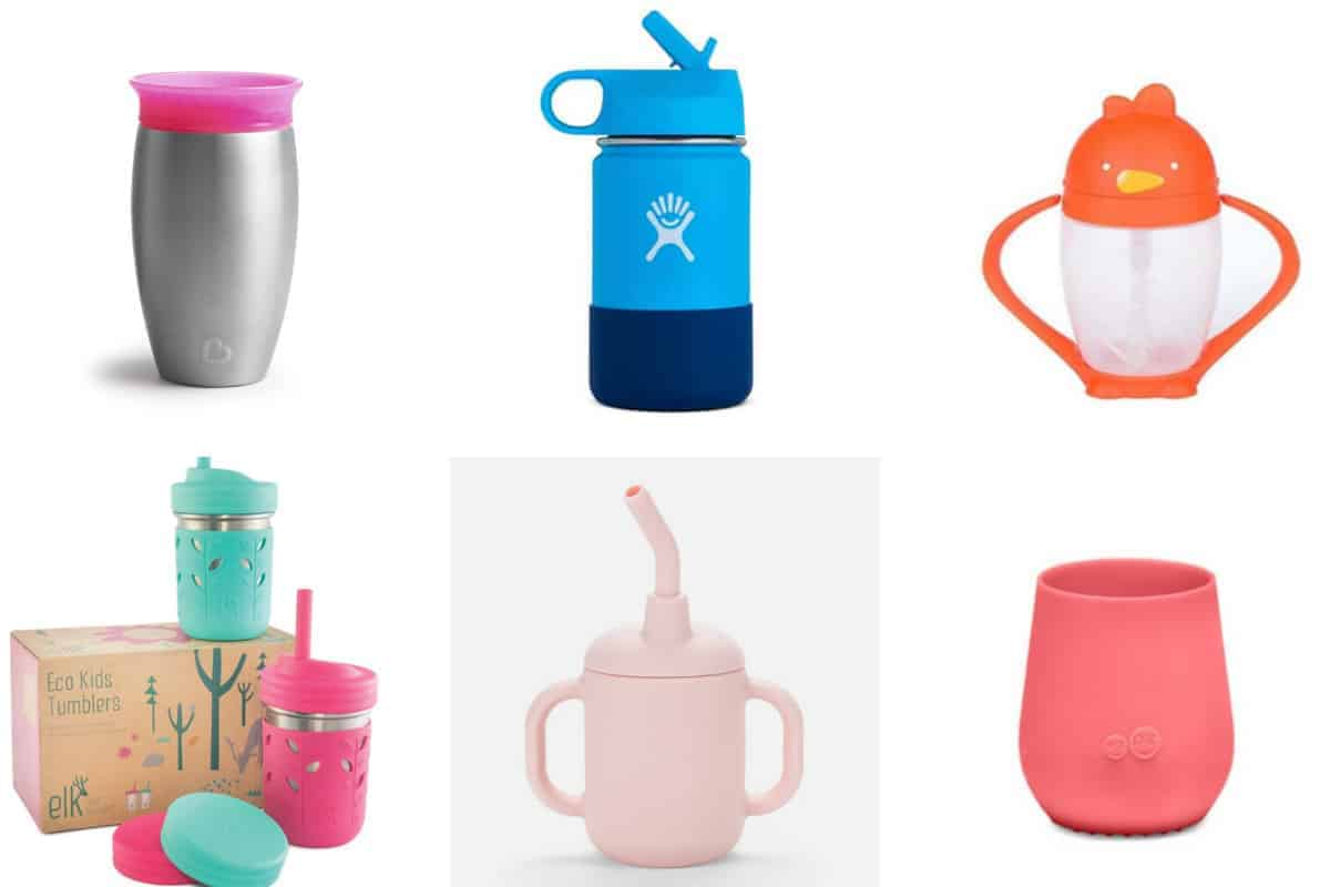 sippy cups in grid of 6