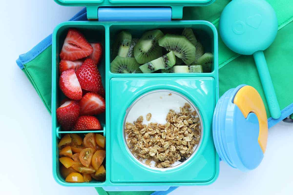 yogurt-and-granola-lunch-in-teal-lunchbox