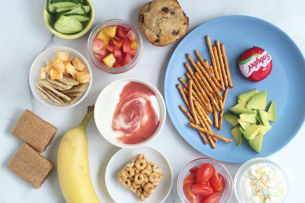 after-school-snacks-on-countertop