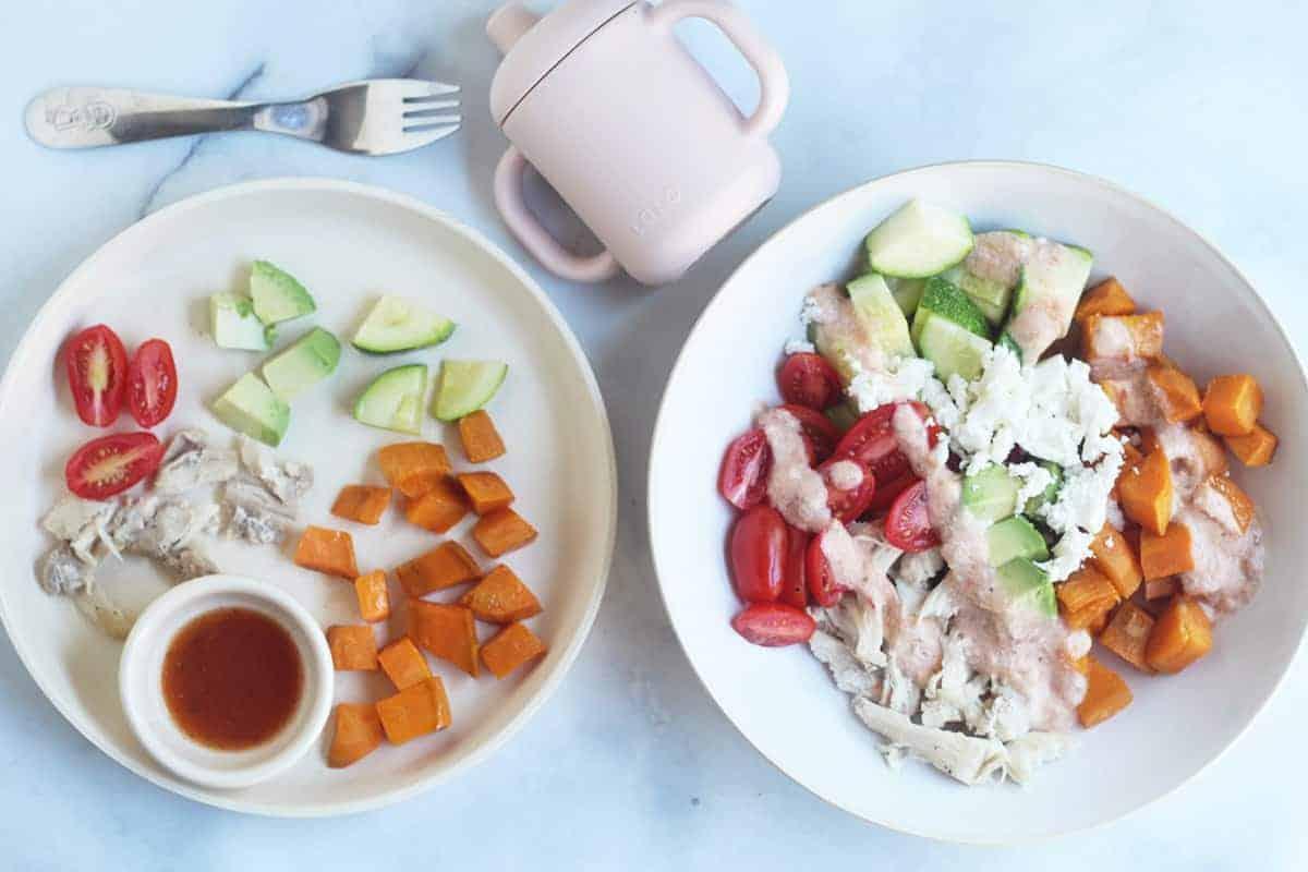 sweet potato chicken meal prep bowls