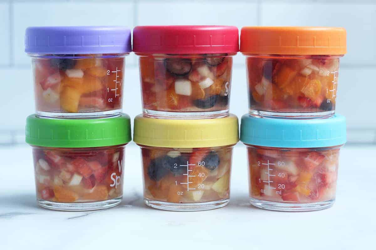 fruit cups with lids on countertop