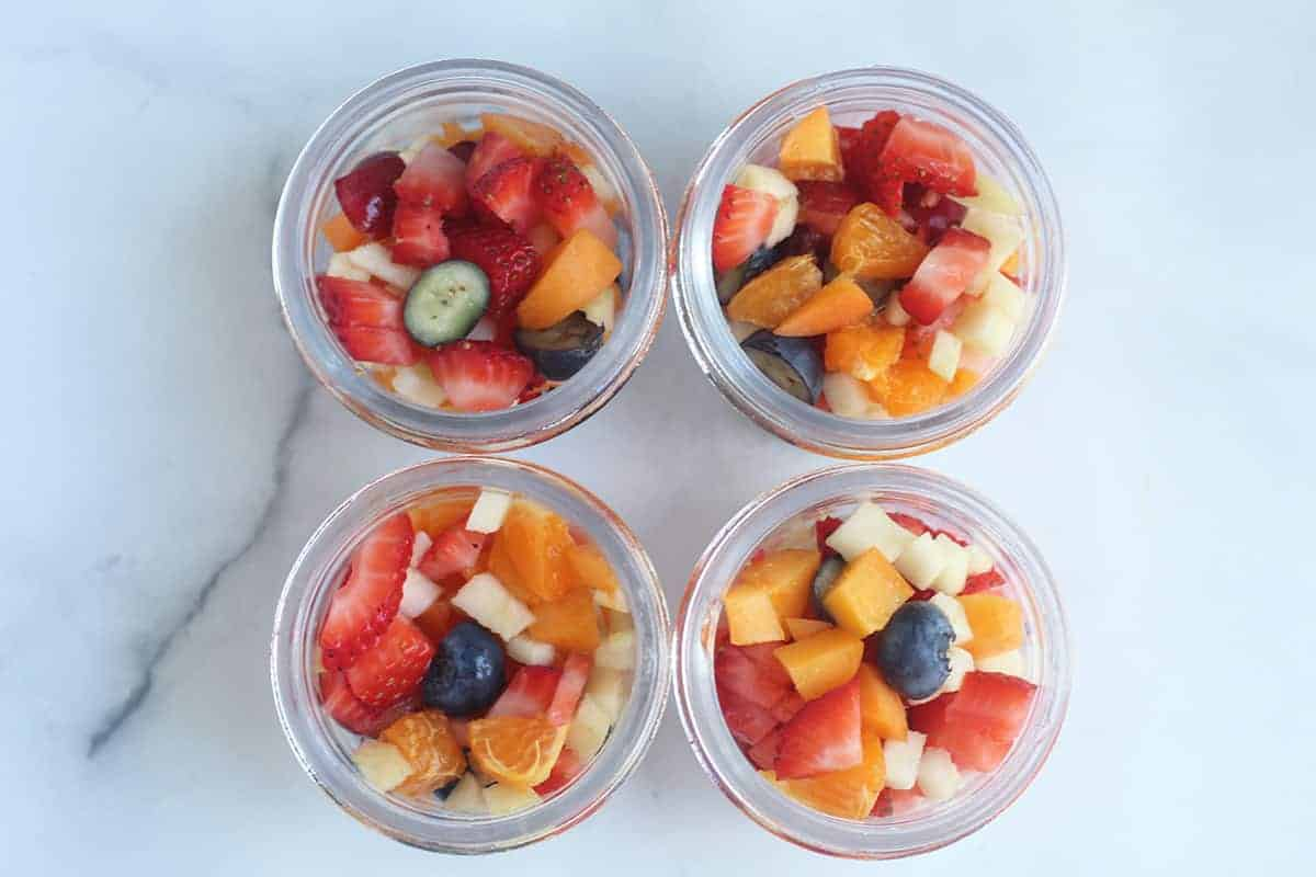 fruit in jars on counter