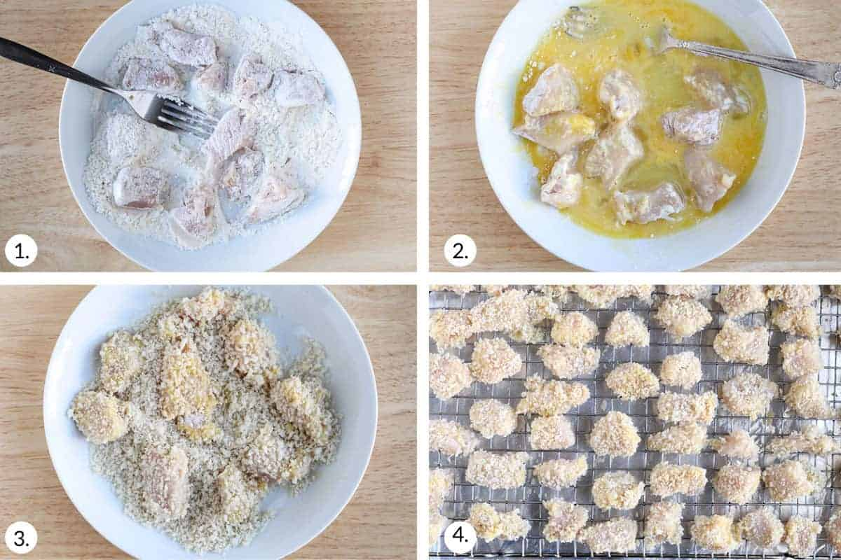how to make baked chicken nuggets step by step