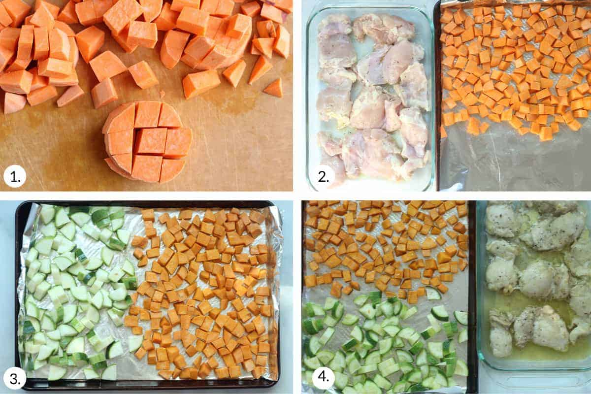 how to make sweet potato chicken bowls step by step