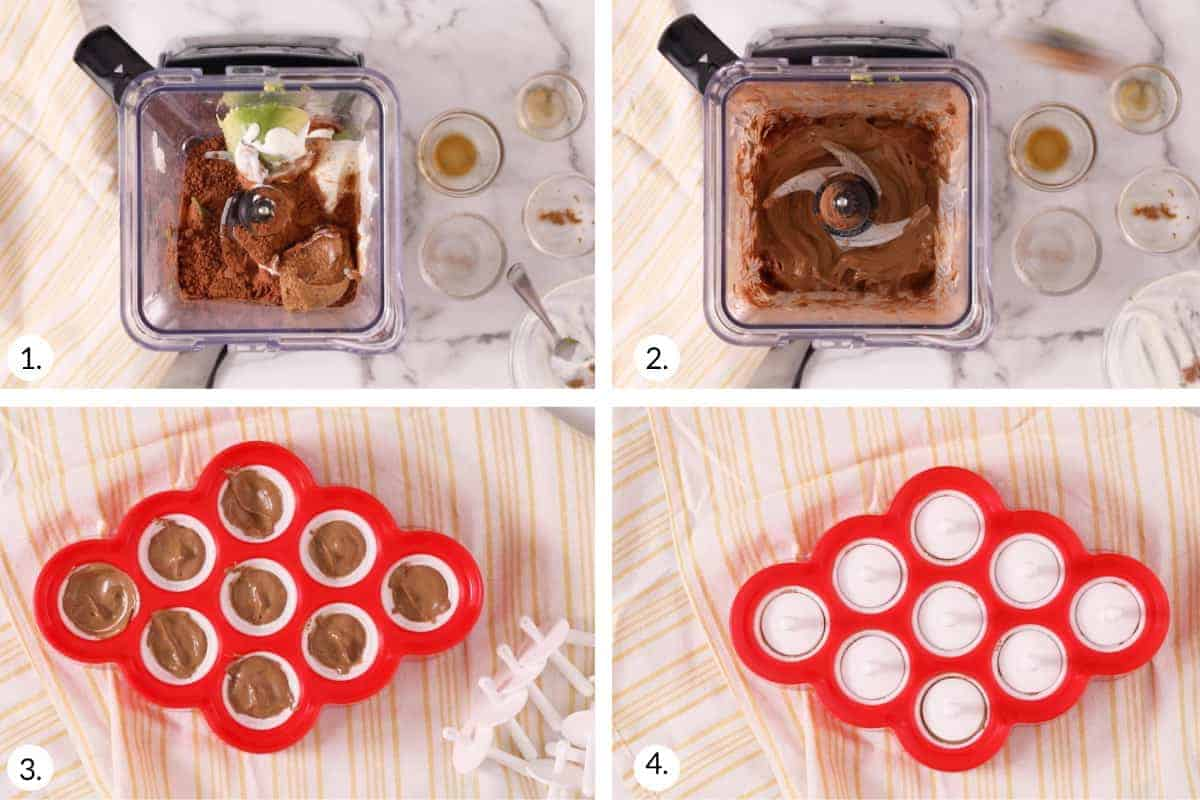 how to make fudge pudding pops step by step process