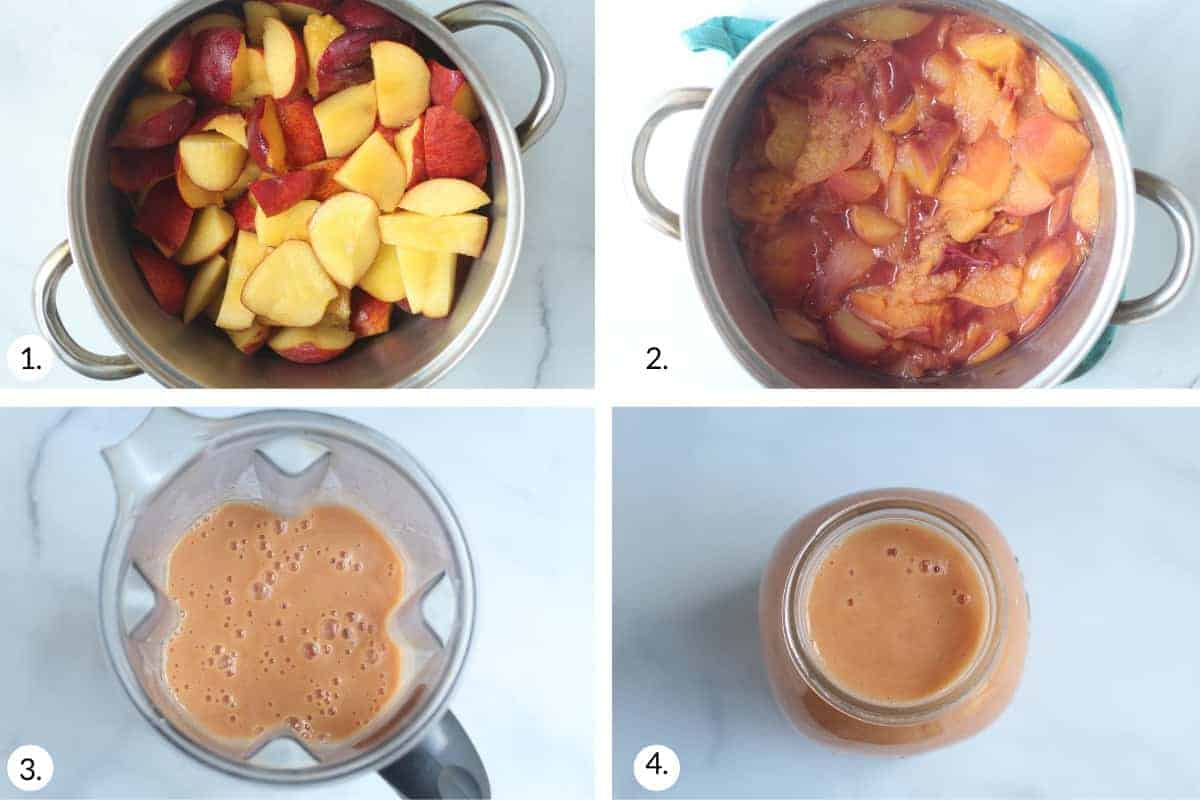 how to make peach sauce step by step