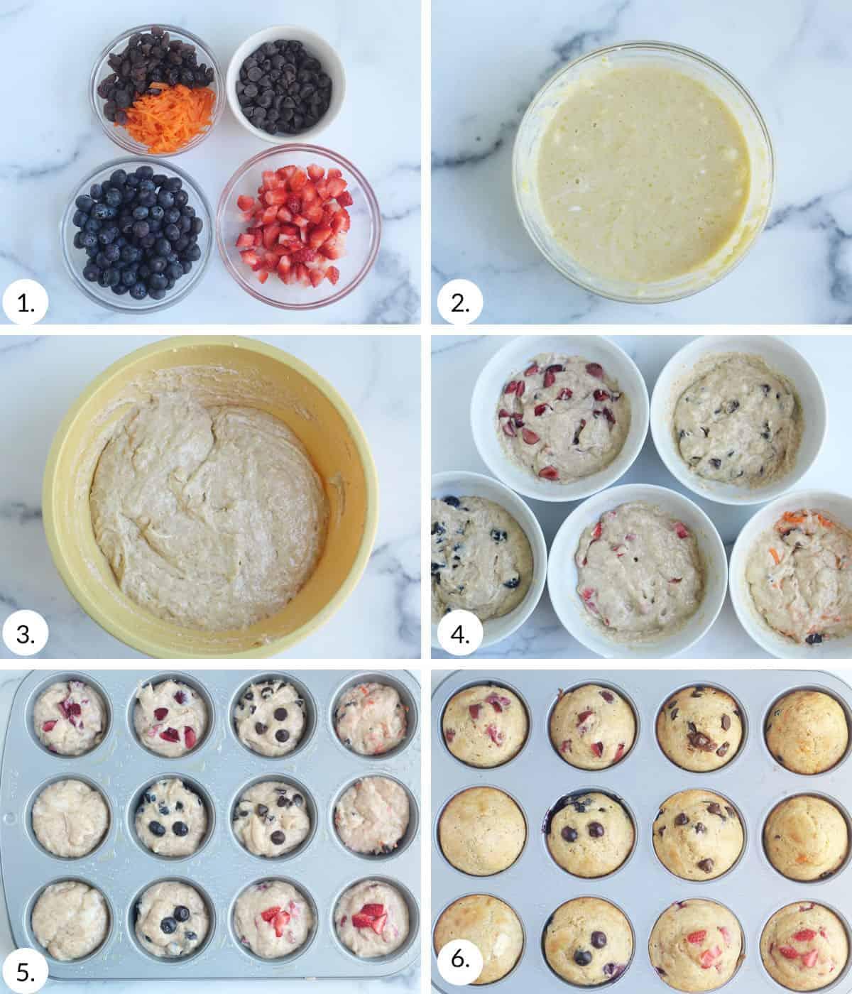 how to make yogurt muffins step by step