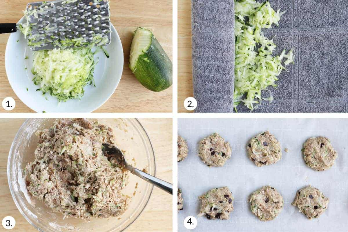 how to make zucchini cookies step by step