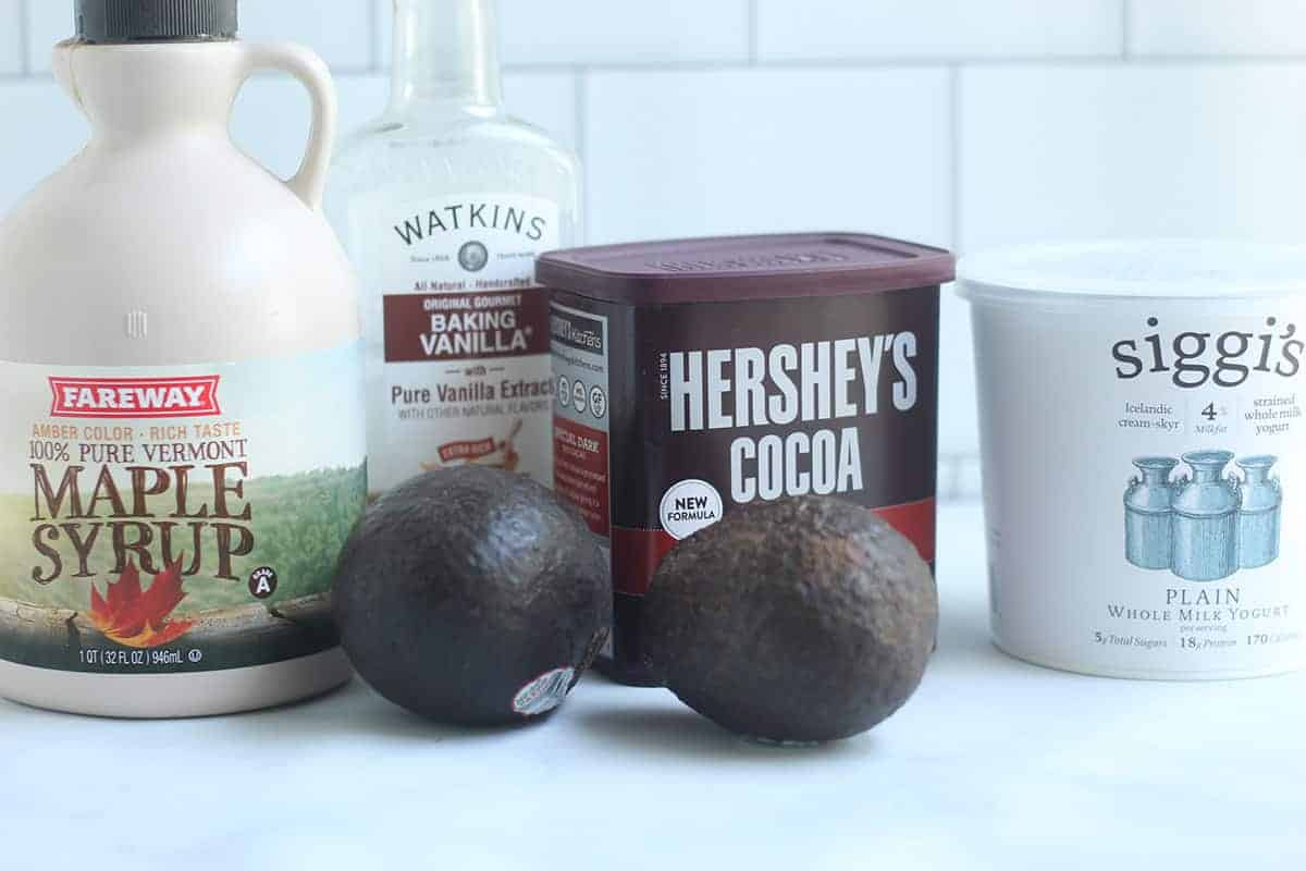 ingredients-in-avocado-pudding