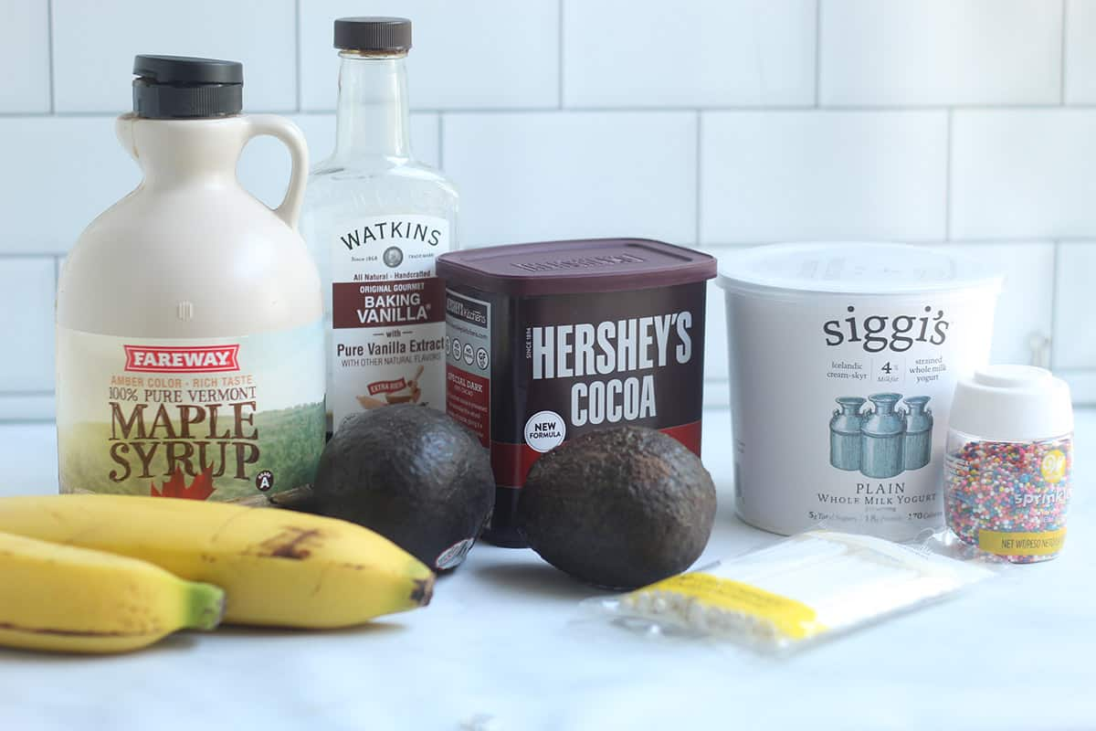 ingredients in chocolate covered bananas