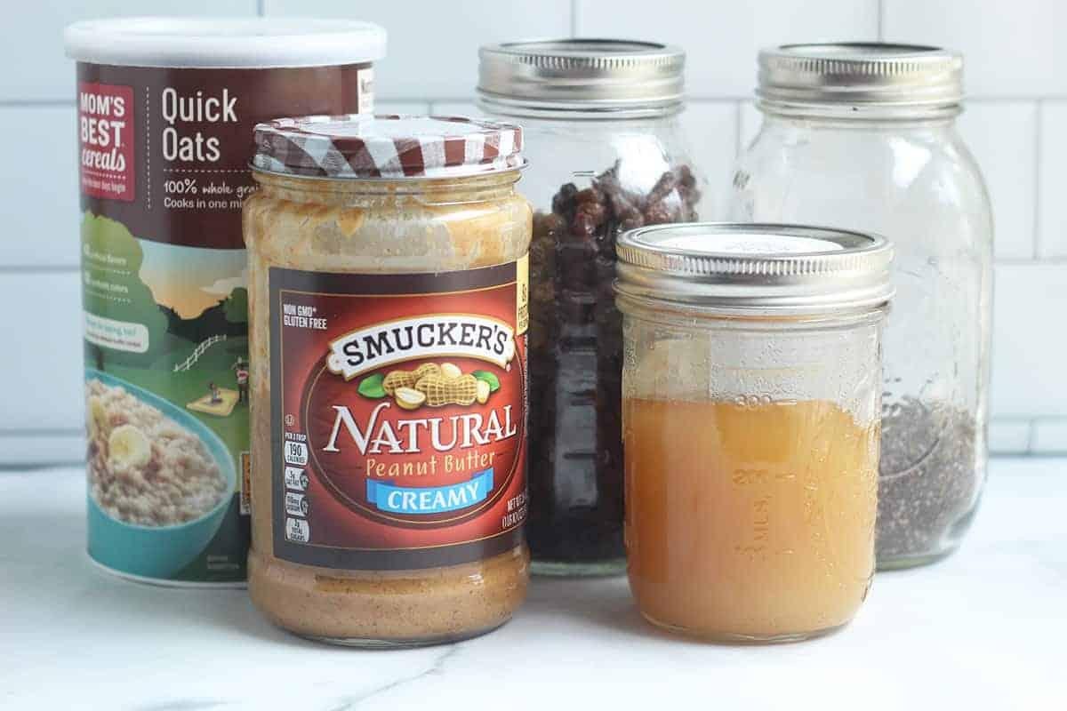 ingredients in peanut butter oatmeal balls