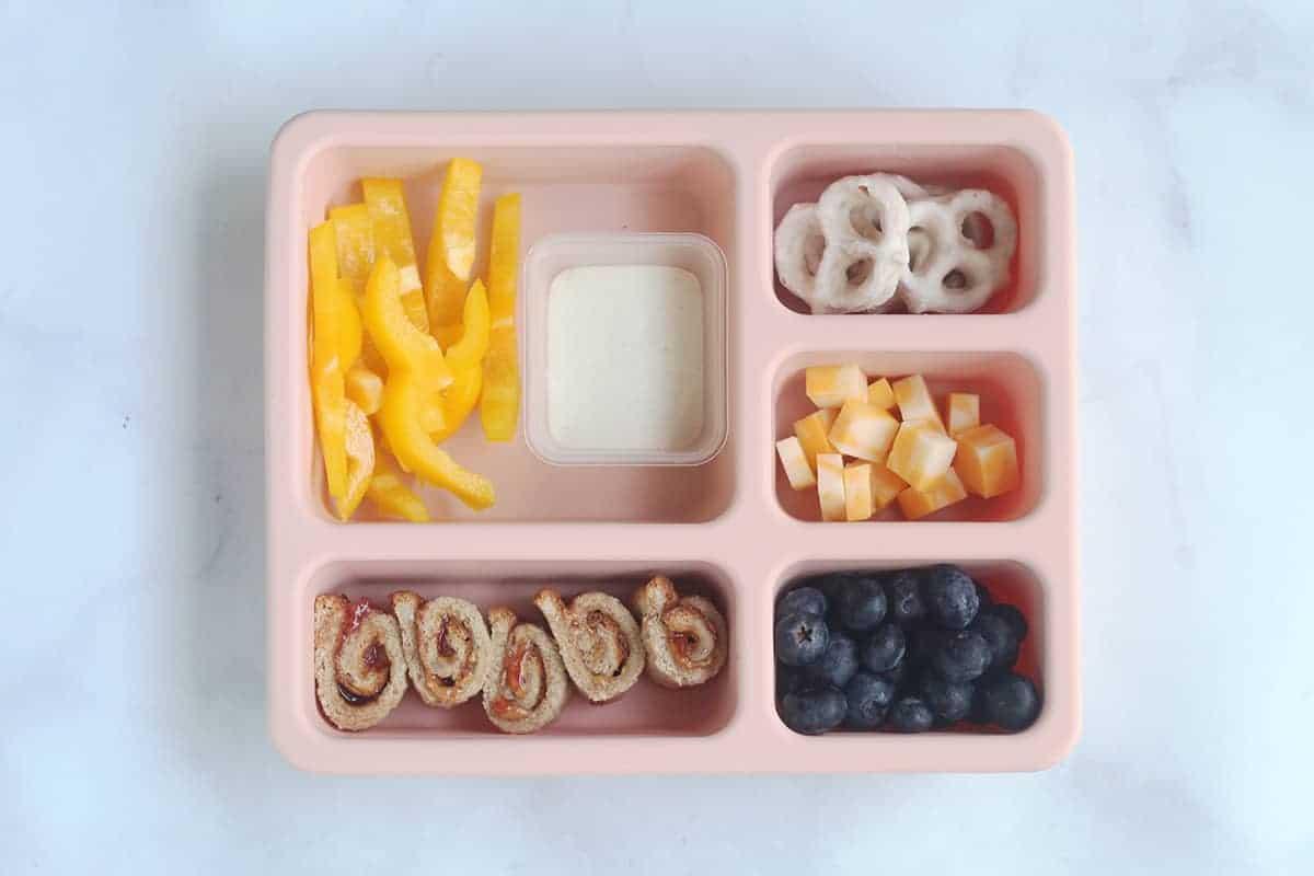 sandwich rolls in pink lunch box