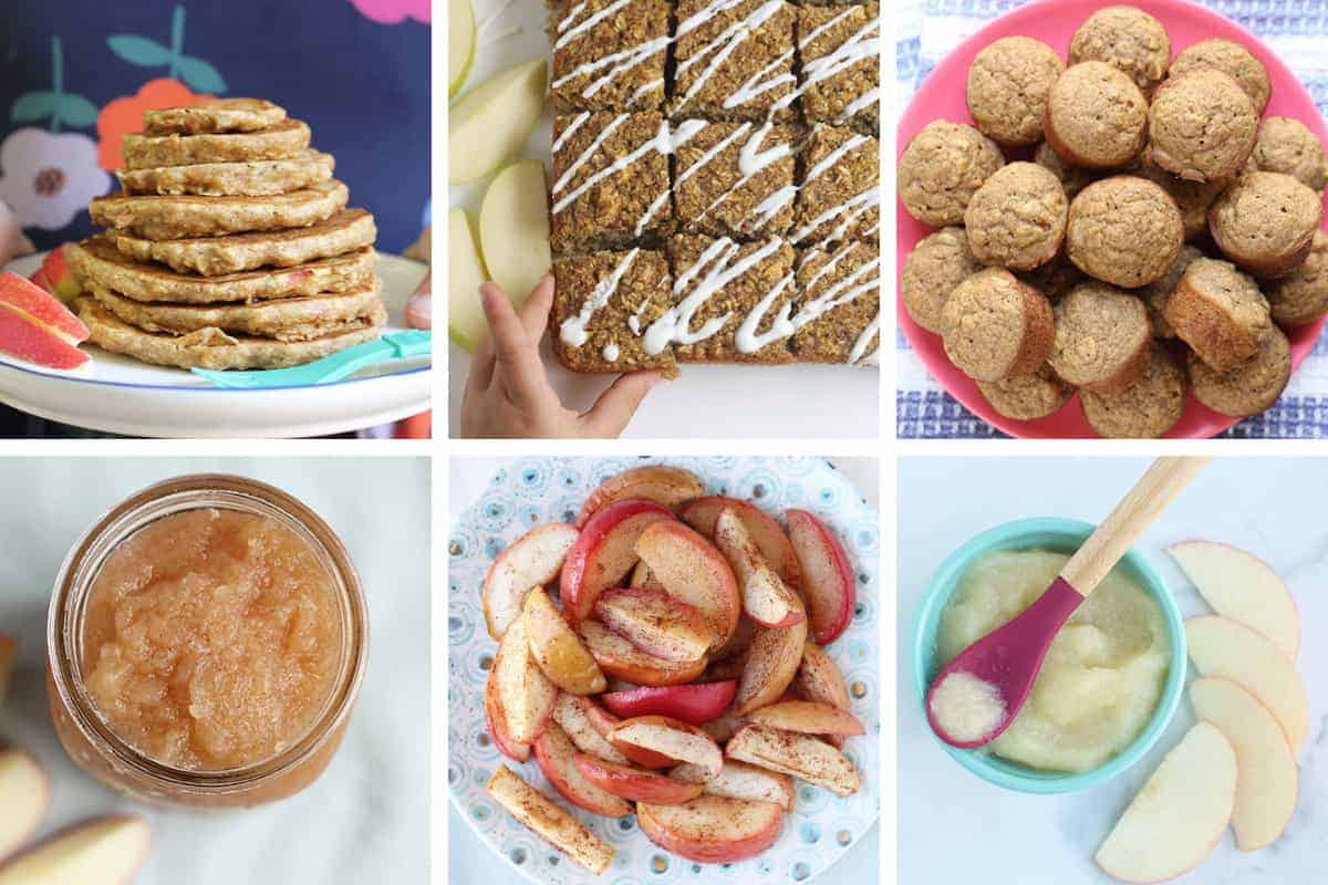apple recipes in grid of 6