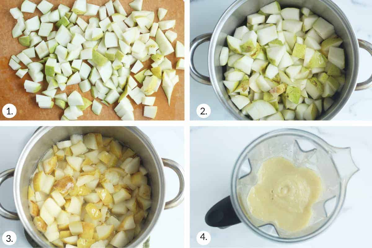 how to make pear sauce step by step