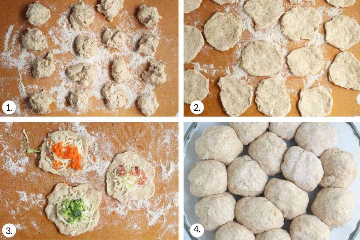 how to make pizza bites step by step