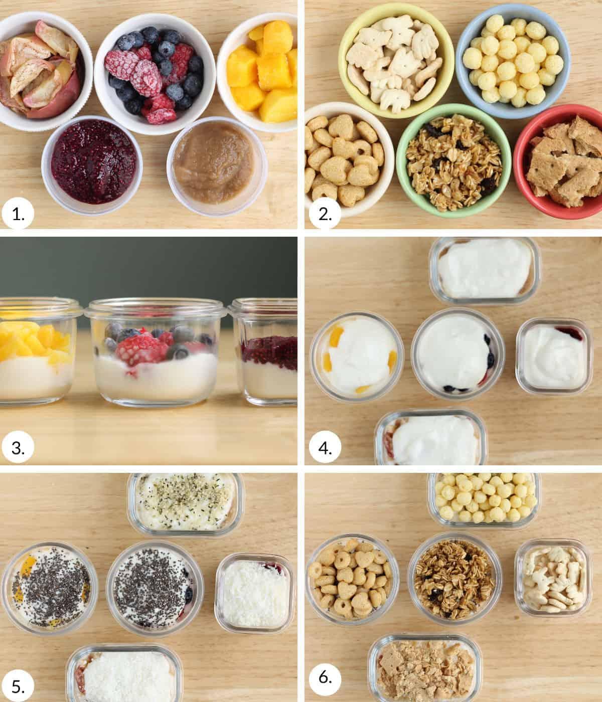 how to make yogurt parfaits step by step