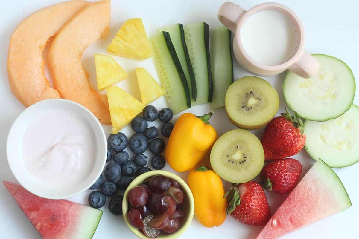 hydrating foods on countertop