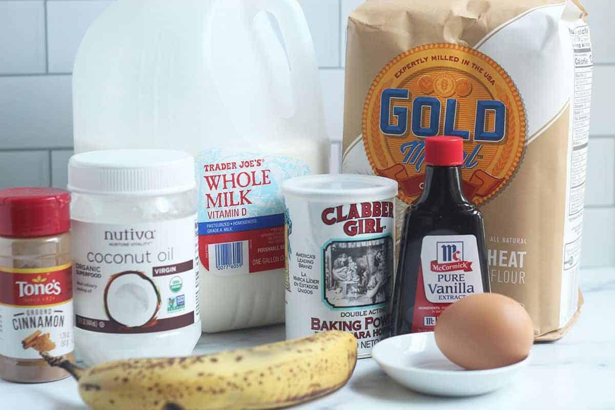 ingredients in banana waffles