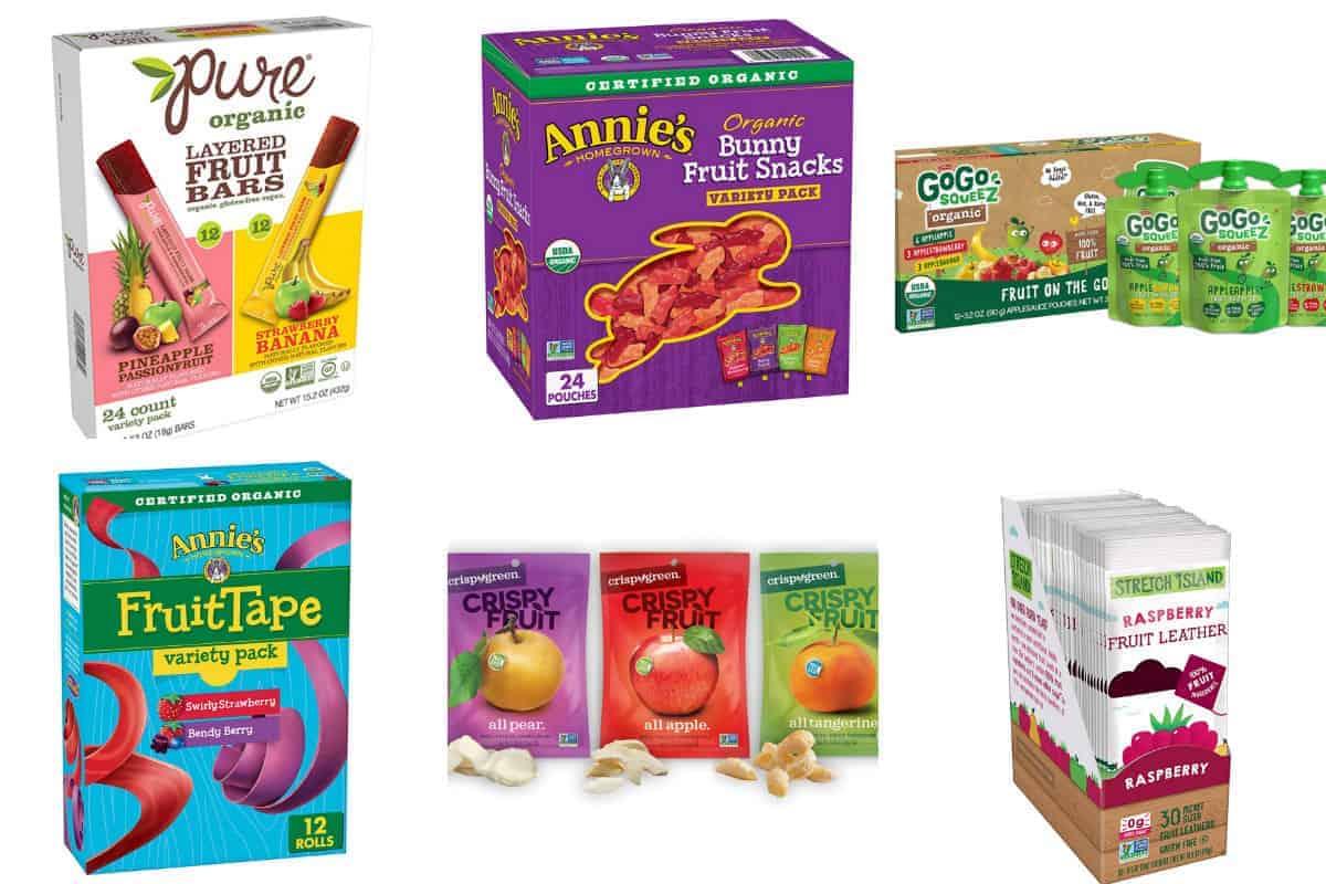 nut-free fruit snacks in grid of 6