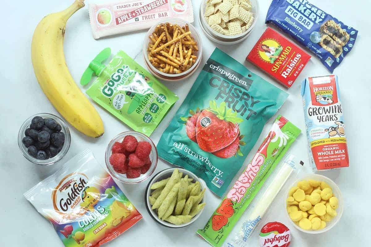 peanut-free snacks on countertop