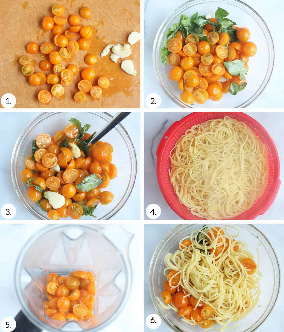 how to make cherry tomato pasta step by step