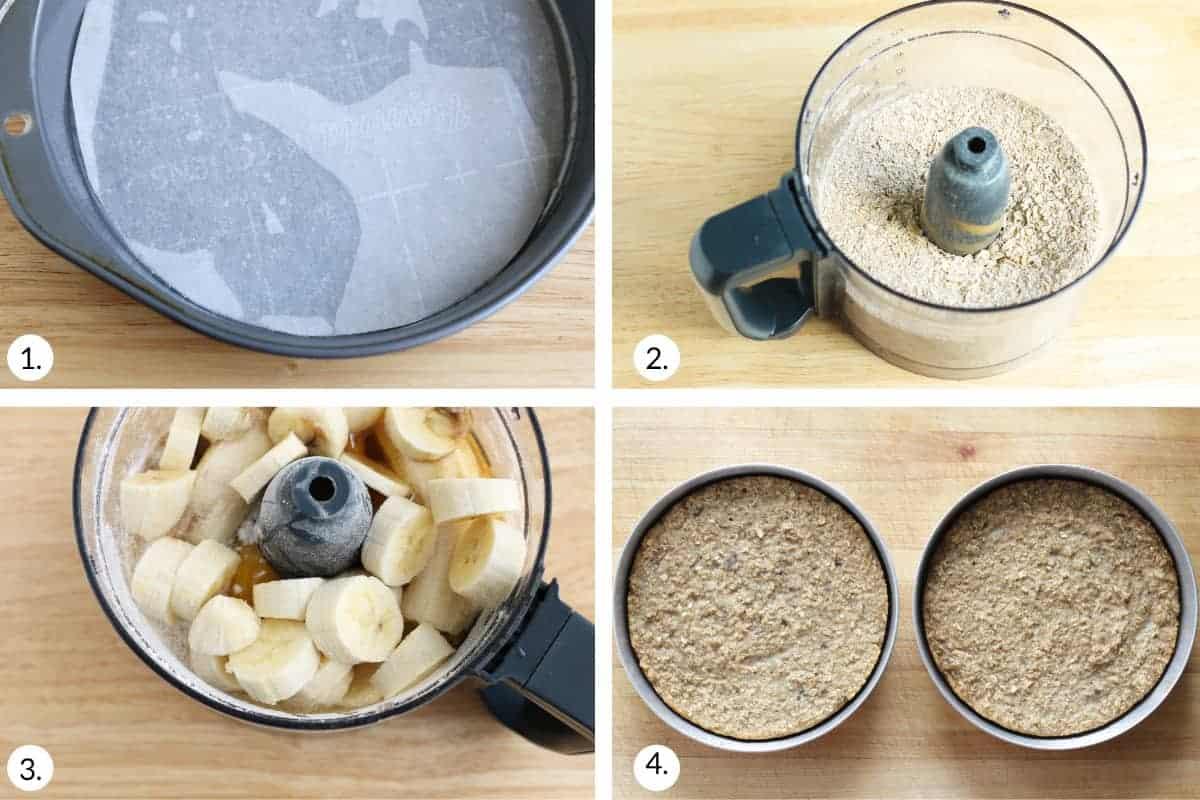 how to make banana cake step by step prcess