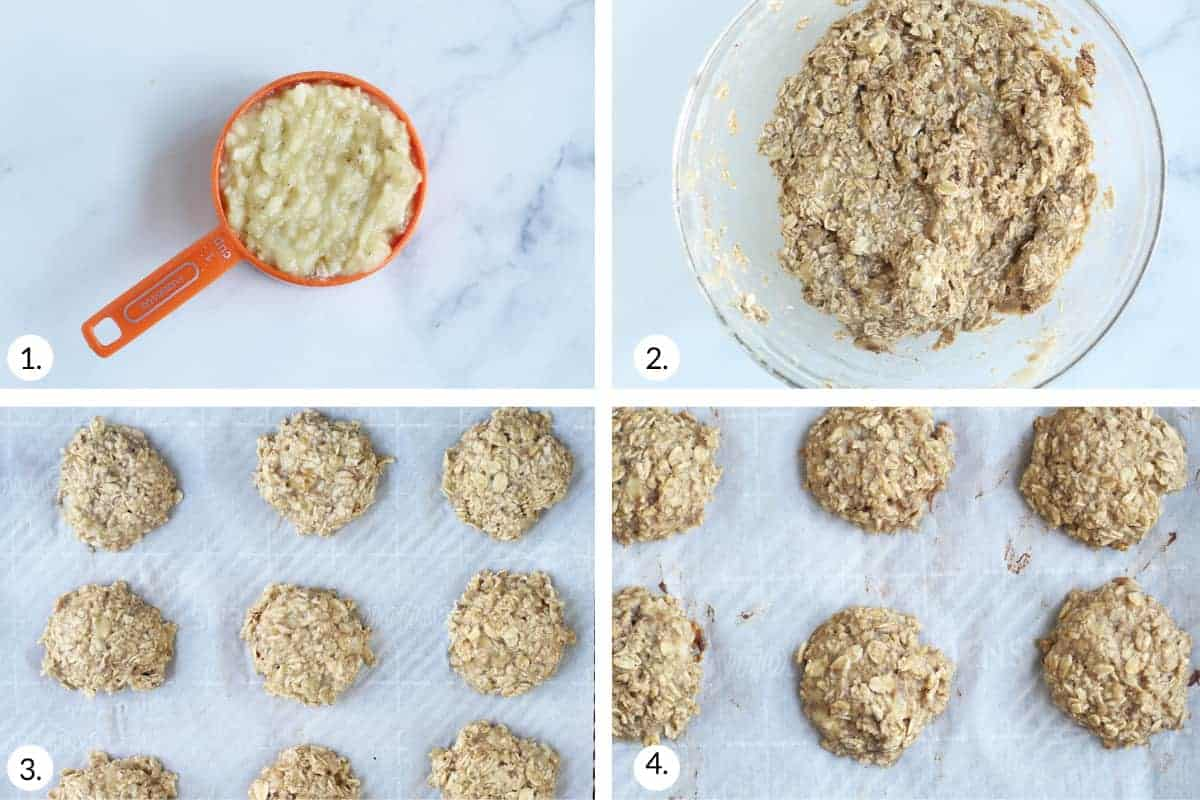 how to make banana cookies step by step
