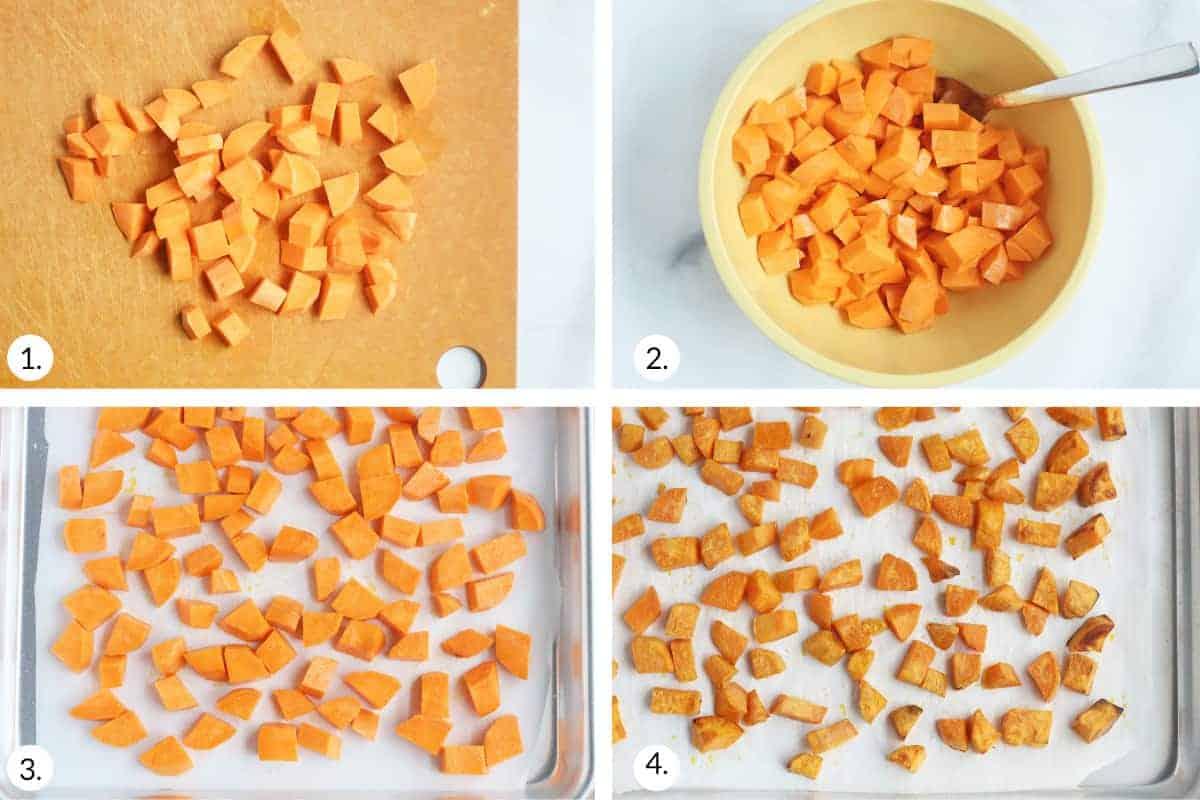 how to roast sweet potato step by step