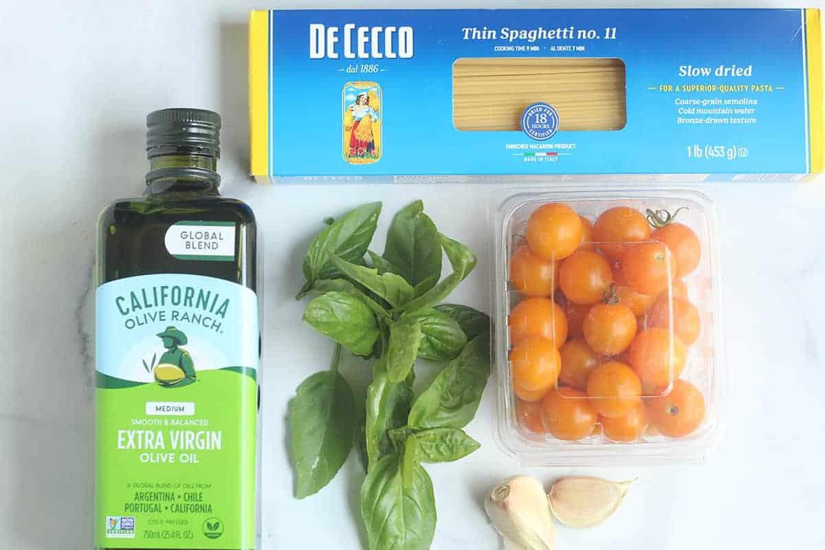 ingredients in cherry tomato pasta