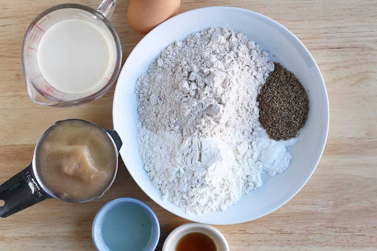 ingredients in cinnamon muffins