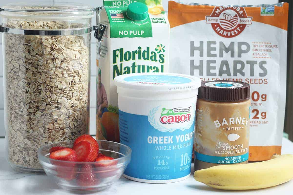 ingredients in lactation smoothie