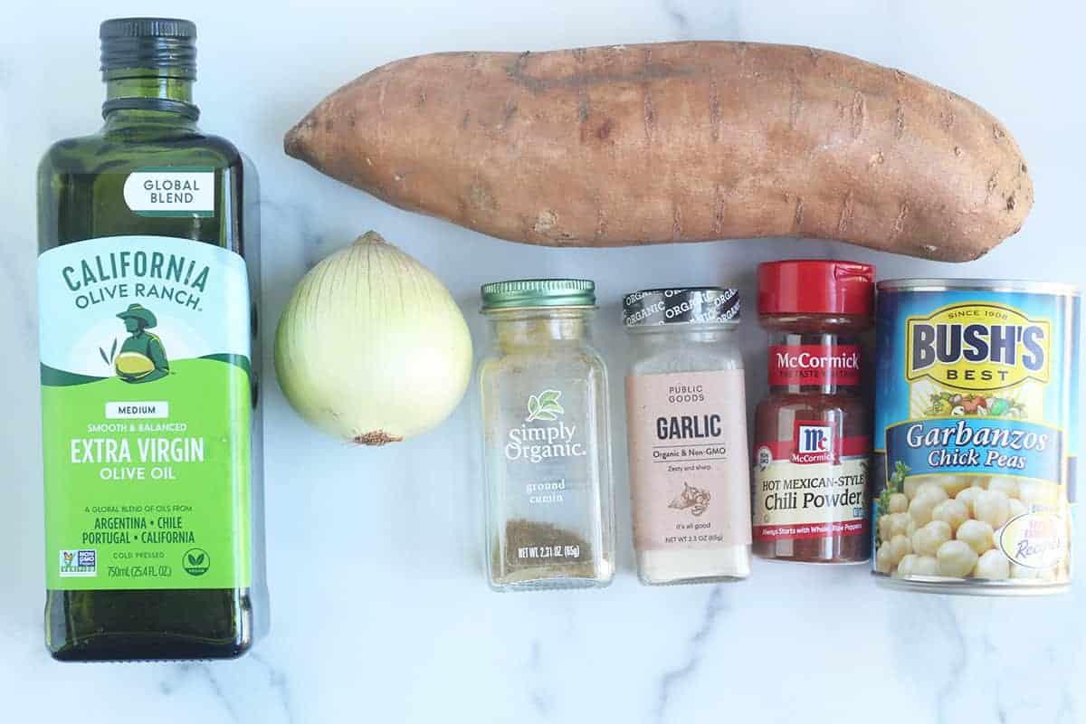 ingredients in sweet potato hash