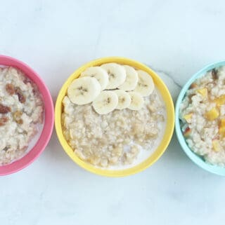 oatmeal-with-fruit-in-kids-bowls
