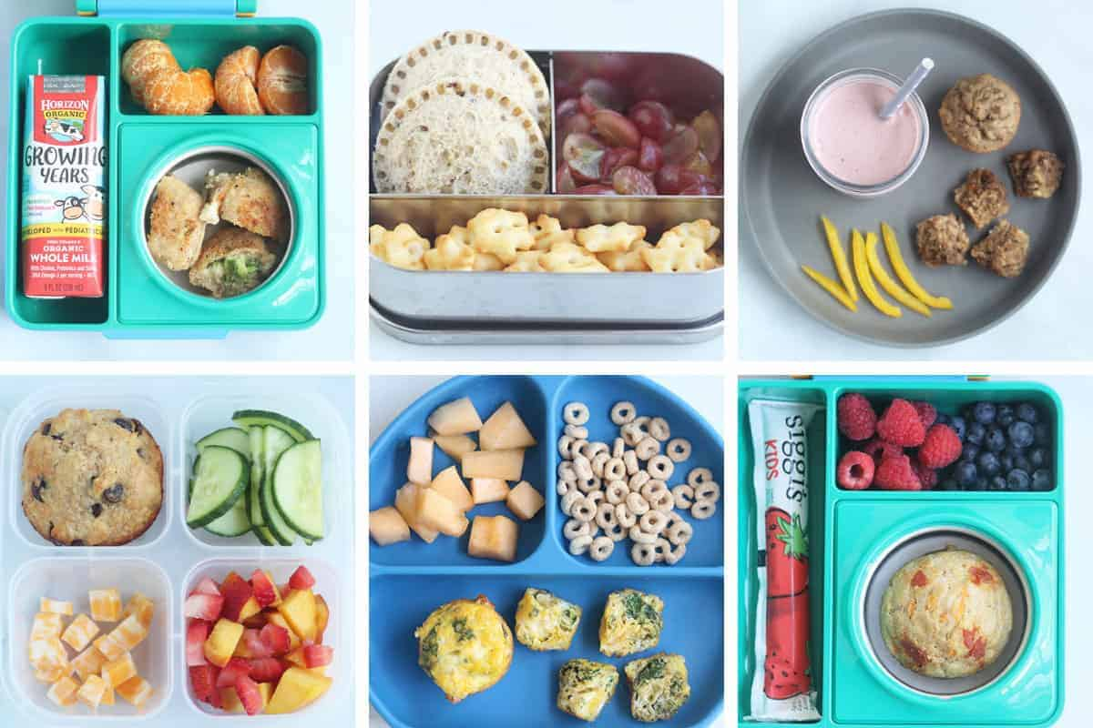 recipes for kids lunches in grid of 6
