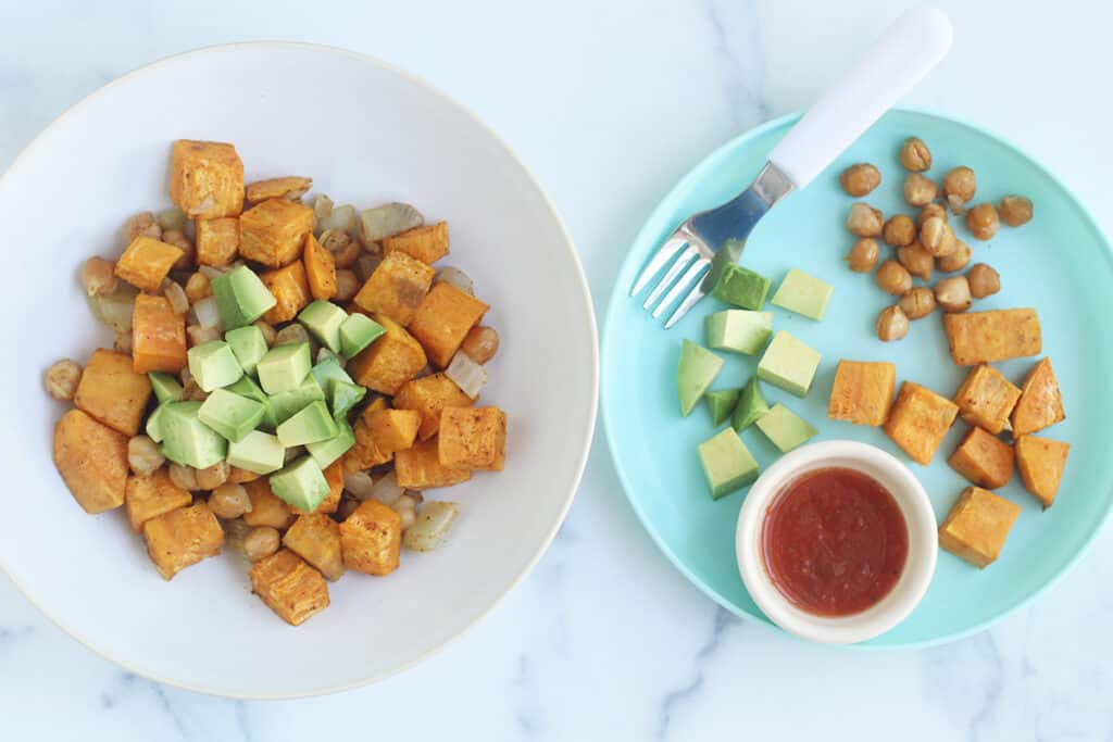sweet-potato-hash-on-two-plates
