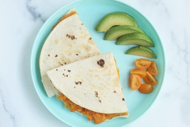 sweet-potato-quesadillas-on-blue-plate