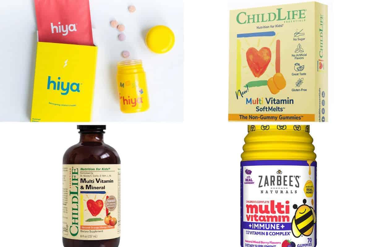 toddler vitamins in grid of 4