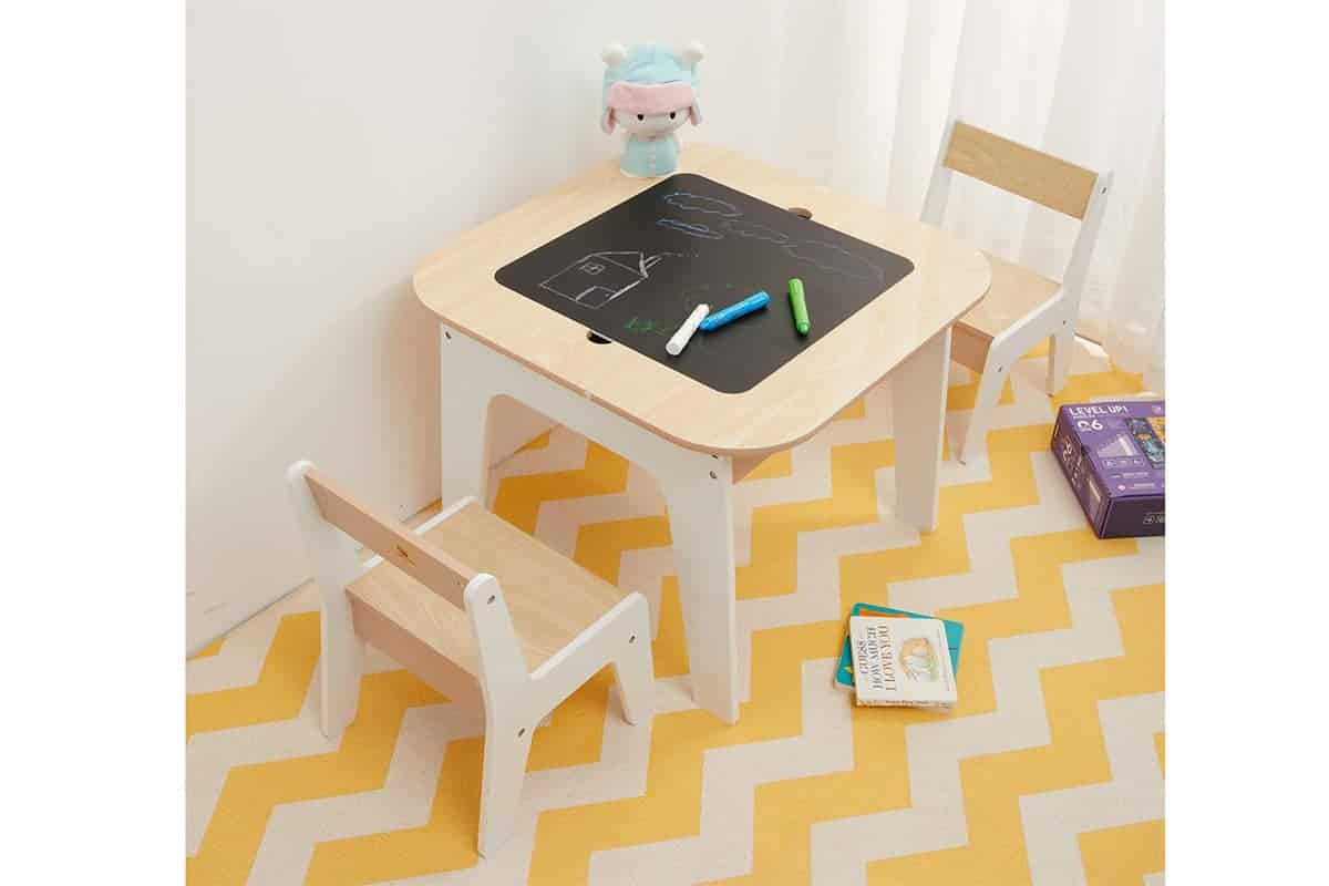 toffy wooden storage table and chairs set