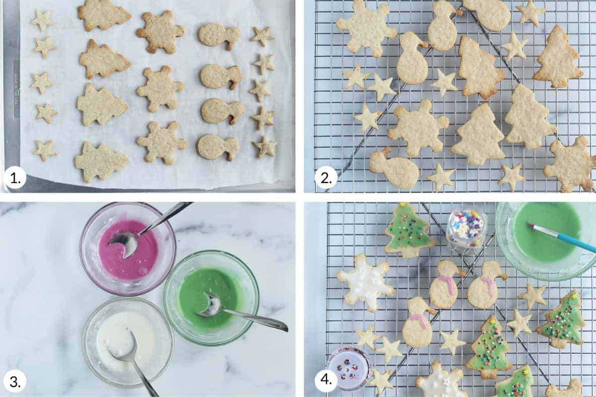 how to decorate cut out christmas cookies
